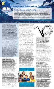 Rockland Education Foundation 2017 Grants brochure